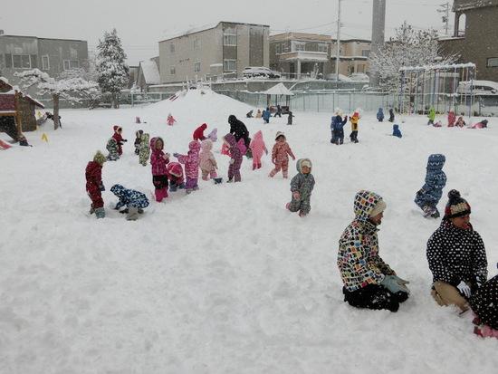 楽しい雪遊び!