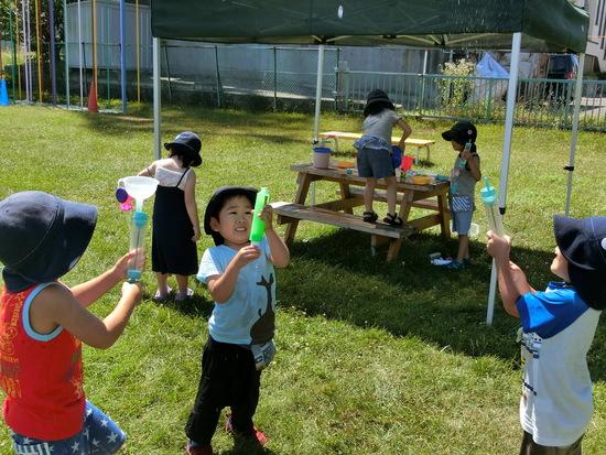 夏休み中の幼稚園