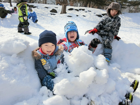 くりグループ 園外保育(雪遊び)