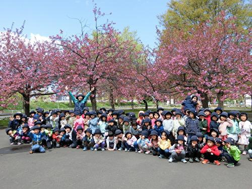 年長組 桜を見に行きました!