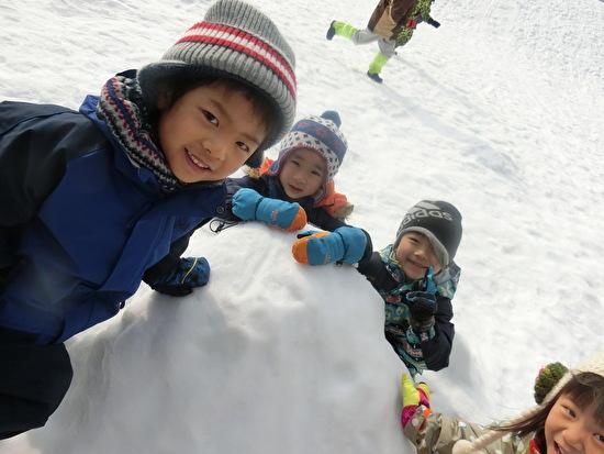 くりグループで雪遊び!