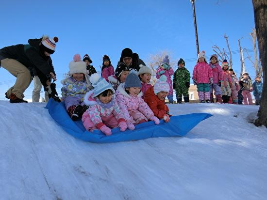 くりグループ 雪遊び